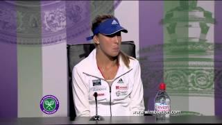 Wimbledon: 2013 Girls' champion Belinda Bencic talks to the media
