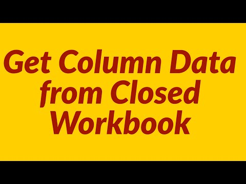 How to get column data from closed workbook
