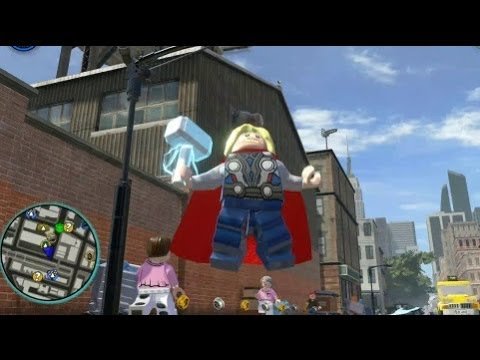 LEGO Marvel Super Heroes (PS4) - Thor Free Roam Gameplay - YouTube
