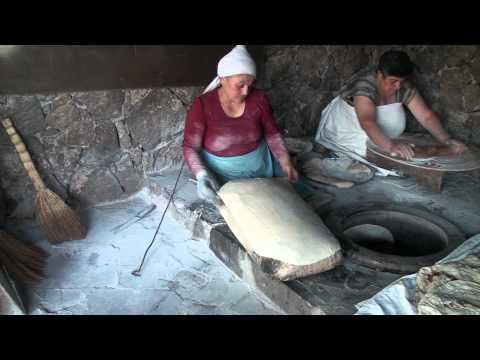 Baking Of Lavash.