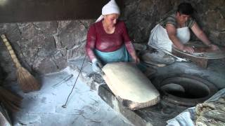 Baking of Lavash.