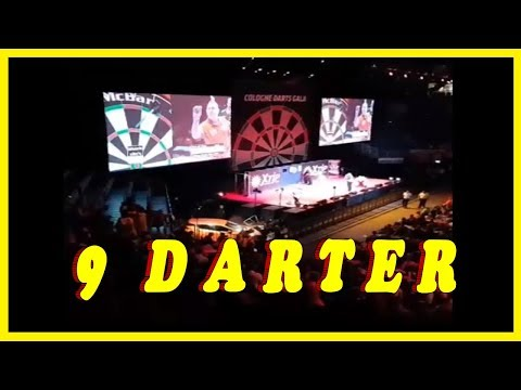 9 DARTER!! - Peter Wright - Exhibition In  Cologne Germany