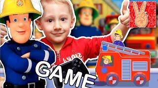 Игра мультик Пожарный Сэм. Пожарная машина, Сэм спешат на день рождения!