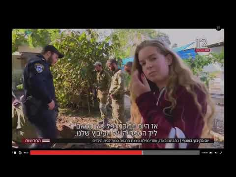 Qassam rocket attack from Gaza into Israel-Me on Channel 12 news in Israel-