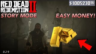 Red Dead Redemption 2- MAKE $1500 SUPER EASY!!! (STORY MODE)