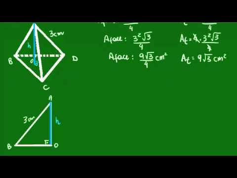 Tetraedro regular - Altura e volume
