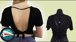 Aprende a coser un escote en la espalda | Ideas de upcycling | Aprende a coser