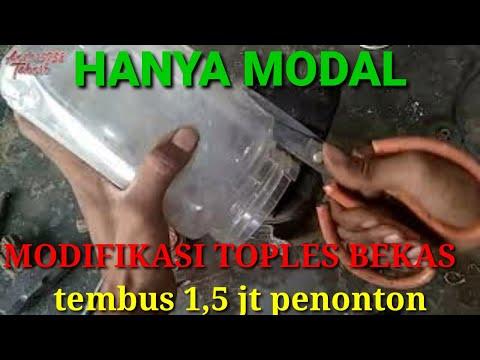 WOWW. ,,pompa Air Jadi Super Kencang, Hanya Dengan Toples Bekas Yg Di Modifikasi ,,.