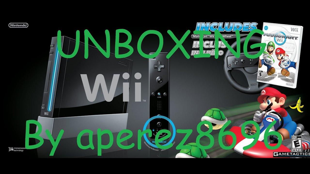 Black wii console with mario kart wii bundle unboxing - Wii console mario kart bundle ...