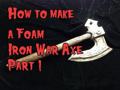 How to Make a Foam Iron War Axe Part 1