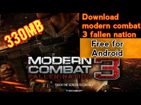 Modern Combat 3 Free Download Apk+data । Highly Copmress File Download Link। MC3। Modern Combat 5