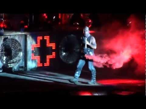 Rammstain HD live - Smoke in Till Lindemann pants! @ Globen 2012-02-17