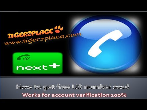 How to get free US number 2016 | Works for account verification 100%
