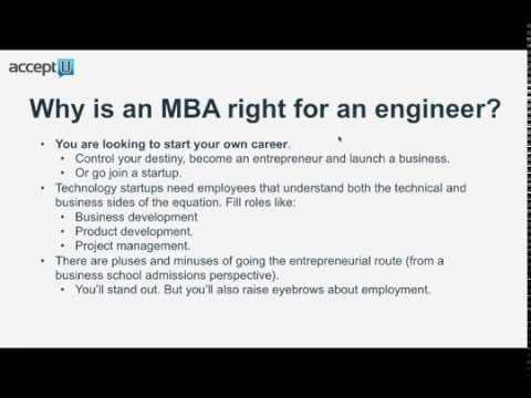 Engineer? Successfully Building a Bridge to an MBA - Webinar