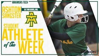 Arkansas Tech Student Athlete of the Week - Ashton Sangster