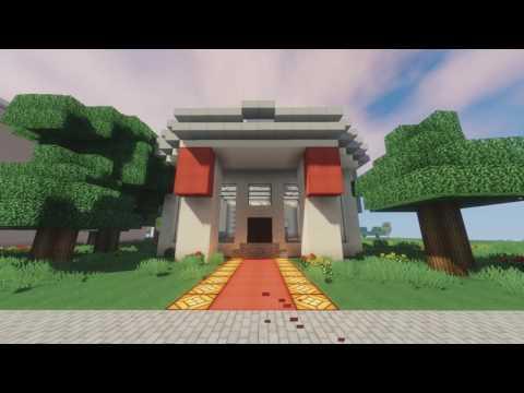 Русский город в Minecraft - 158 - Суд, Набережная, Музей