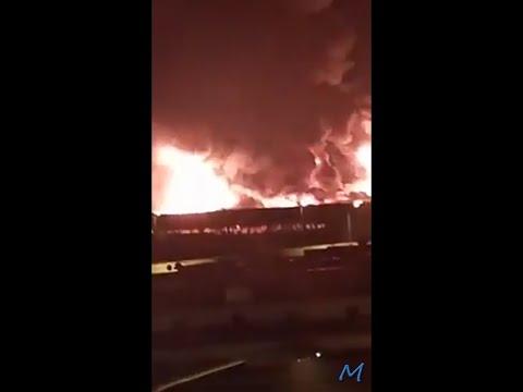 عاجل وخطير حريق و انفجارات بسيدي بالبرنوصي Sidi Bernoussi بمدينة الدار البيضاء