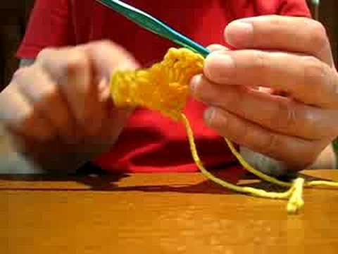 Crochet Demonstration Diagonal Block Youtube