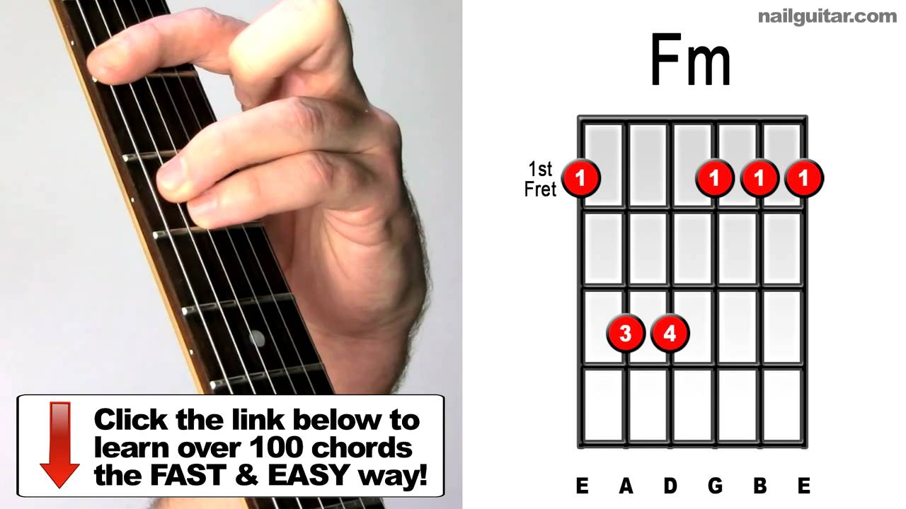 How To Play Fm Minor Bar Chords For Guitar Youtube