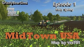 Farming Simulator 17 ᴴᴰ  MidTown USA by ccs101 🚜  Episode 1