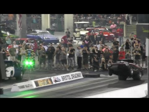 Street Outlaws Shane Blackbird Vega wheelie win vs Bobby Ducote at Bristol 100k race