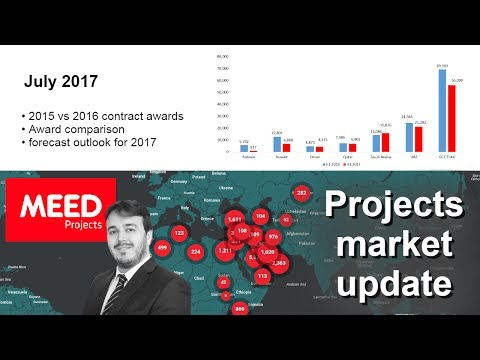 MEED Projects | GCC contract awards, Market forecast outlook for 2017, Award comparison | July 2017