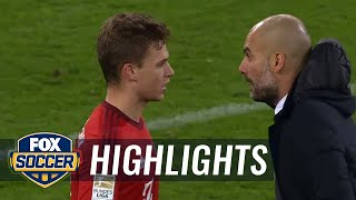Guardiola gives Kimmich intense lesson right after match   2015–16 Bundesliga Highlights