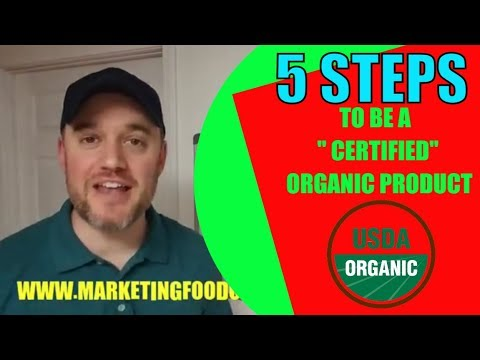 5 steps How to create an organic food product USDA steps