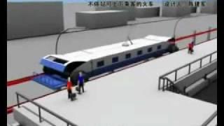 إعجاز صيني قطار تركبة وتنزل وهو يمشي 300 كم/ساعة