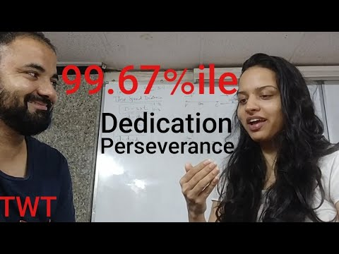 TwT interview 99.67%ile in CET. Siddhika and Perseverance