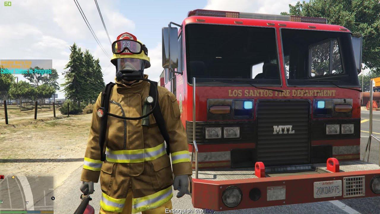gta v firefighter mod paleto bay fd on duty youtube