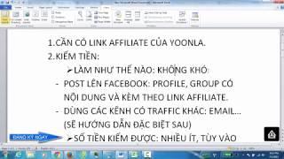 Kiếm tiền với Yoonla - Cách lấy link và bắt đầu kiếm tiền với Yoonla