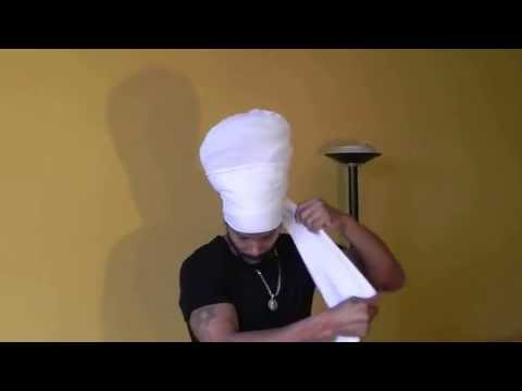 How to put on a Jah Roots Hats Ready Wrap!!!