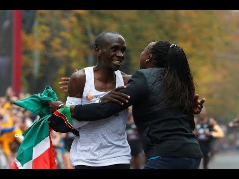 Eliud Kipchoge speaks on the range of emotions he felt at the finish line