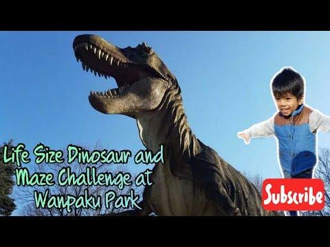 life-size-dinosaur-and-maze-challenge-at-wanpaku-park-(とちぎわんぱく公園で恐竜と迷路に挑戦!)