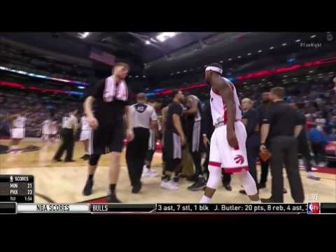 Terrence Ross tries to sneak into Spurs huddle, Ime Udoka quickly covers his eyes January 24, 2017