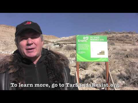 Estonian journalist speaks at Enefit / Eesti Energia oil shale test mine in Utah