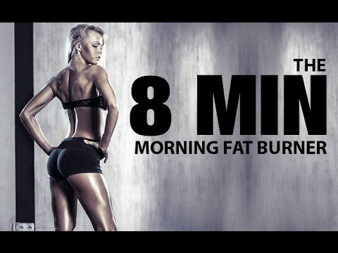 8 MINUTE MORNING Workout (Quick Morning FAT BURNER!!)