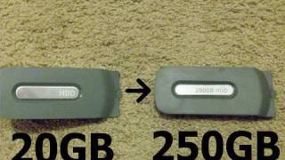 Transfer Xbox 360 Content from  20gb to 250gb Hard Drive (HD)