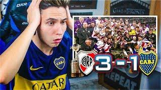 REACCIONES DE UN HINCHA River Plate vs Boca Juniors 3-1 FINAL LIBERTADORES 2018