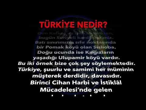 TURKIYE NEDIR AKAN YAZI