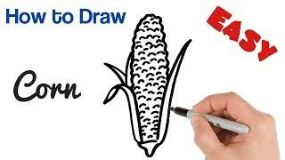 How to Draw Corn / Сómo dibujar el maíz