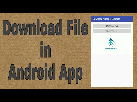 How To Download File In Android App