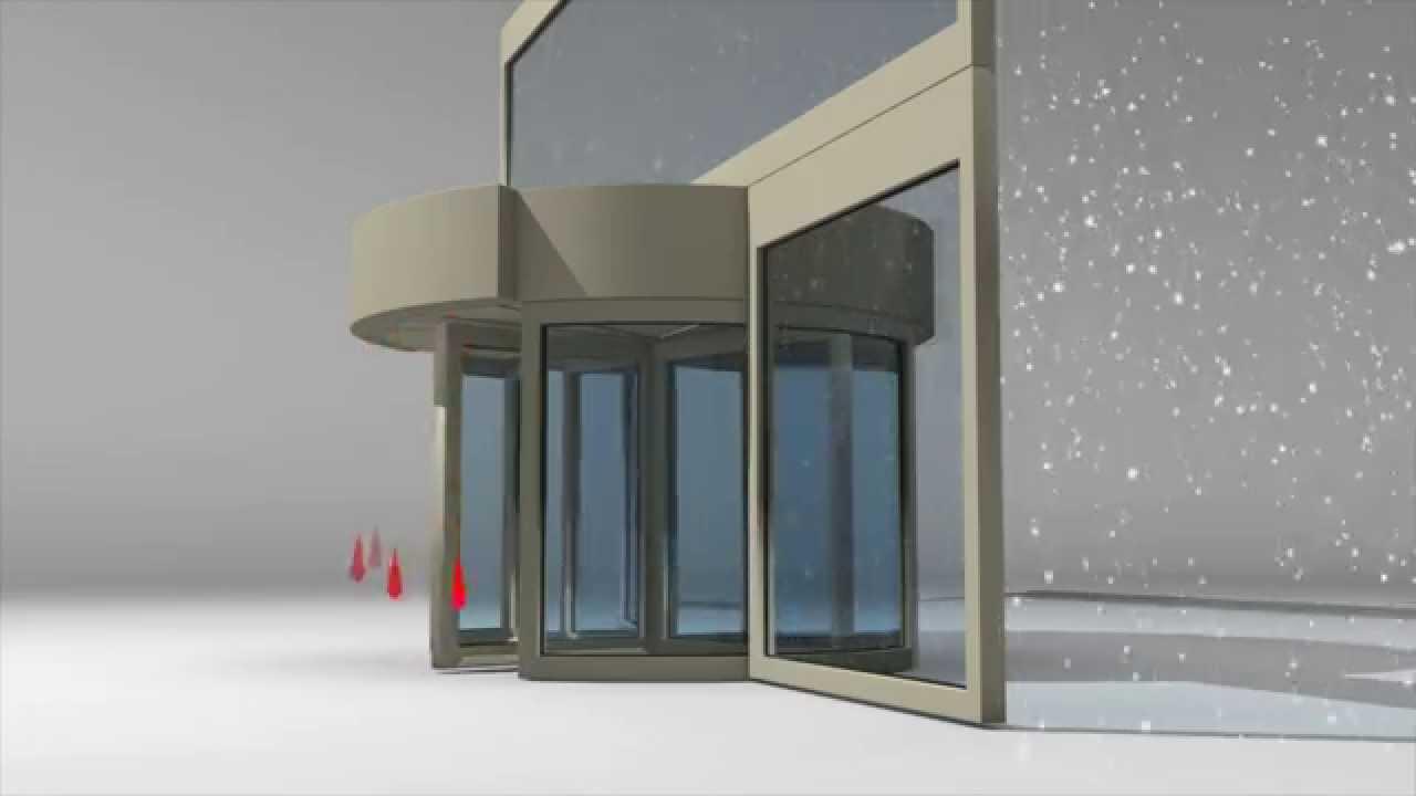 Air Curtains for Revolving Doors & Air Curtains for Revolving Doors - YouTube