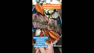 Whole30 Grilled Flank Steak with Chimichurri and Veggies