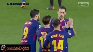Barcelona fc vs girona 6 - 1 || la liga 2018 24/02/2018