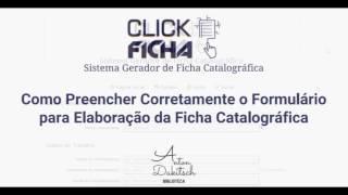 Como Preencher Corretamente o Formulário do Click Ficha
