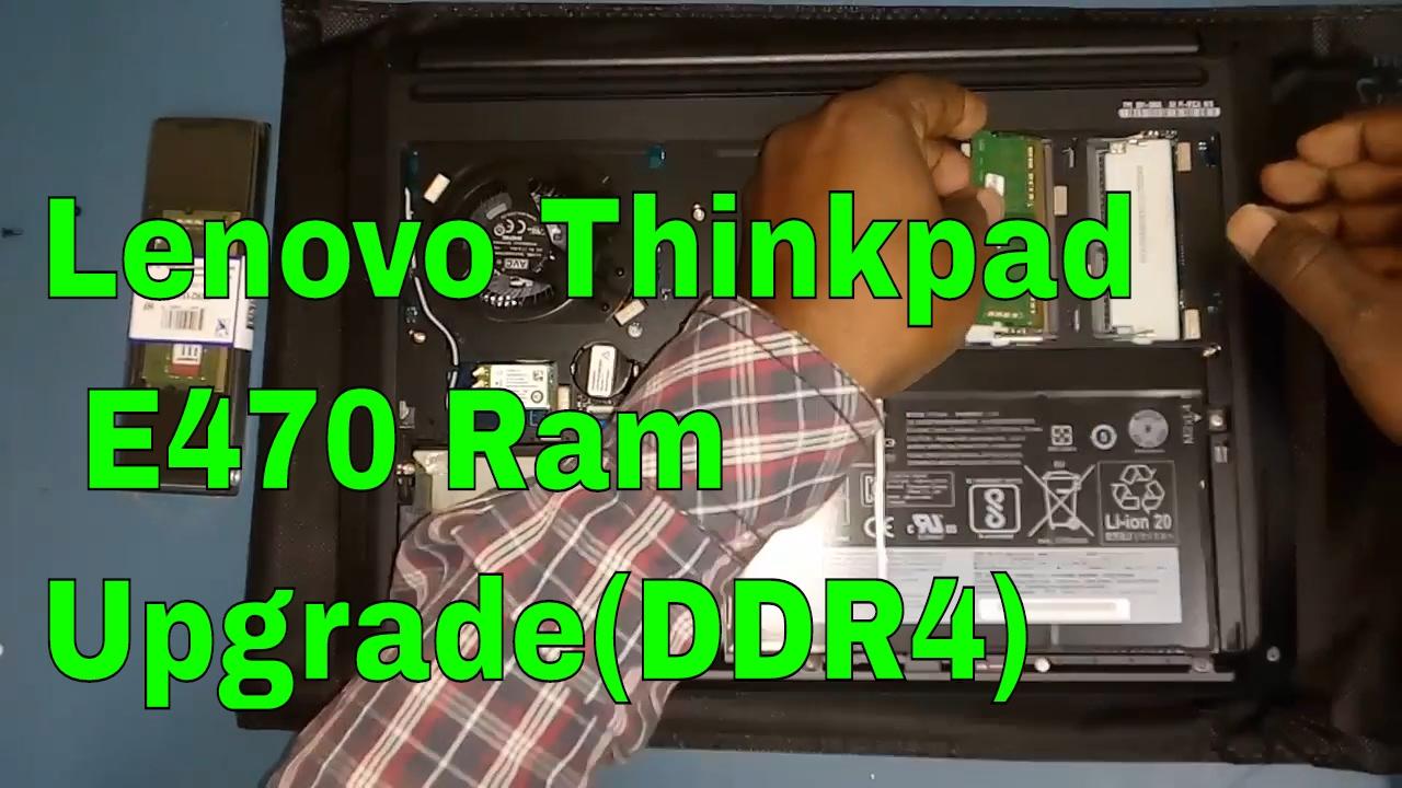 How To Upgrade Lenovo Thinkpad E470 Ram !! DDR4 Ram !! Sr Tech