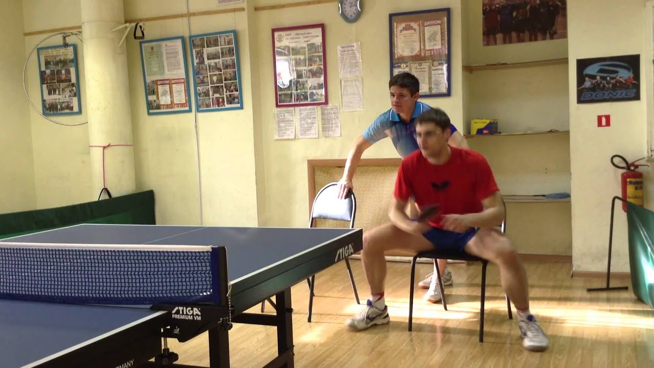 Table Tennis footwork exercises with a chair part 2