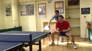 Table Tennis - footwork - exercises with a chair (part 2)